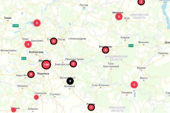 Создана онлайн-карта РФ, накоторой отмечают основные проблемы медиков иданные обихгибели из-за COVID-19