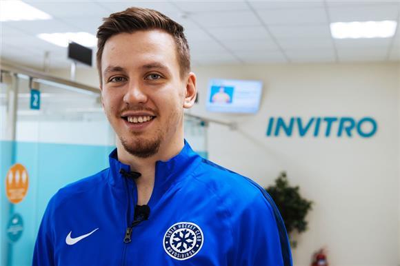 Игрок хоккейного клуба «Сибирь» вступил вНациональный регистр доноров костного мозга