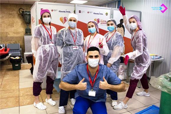 58студентов Московского медико‑стоматологического университета сдали кровь натипирование