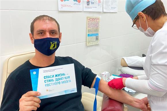 Кровь натипирование для вступления вНациональный РДКМ сдал 21белокалитвинец