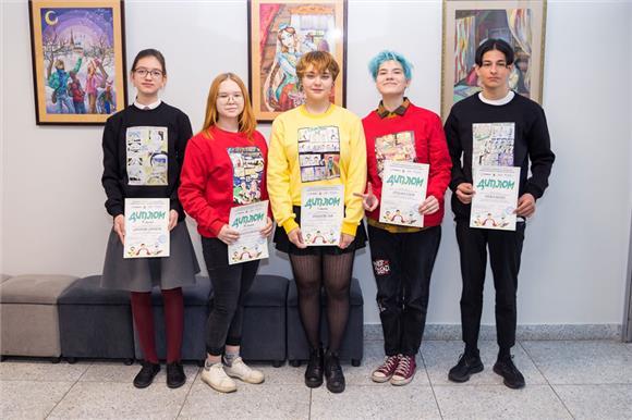 Ученики казанской художественной школы нарисовали 20комиксов одонорстве костного мозга