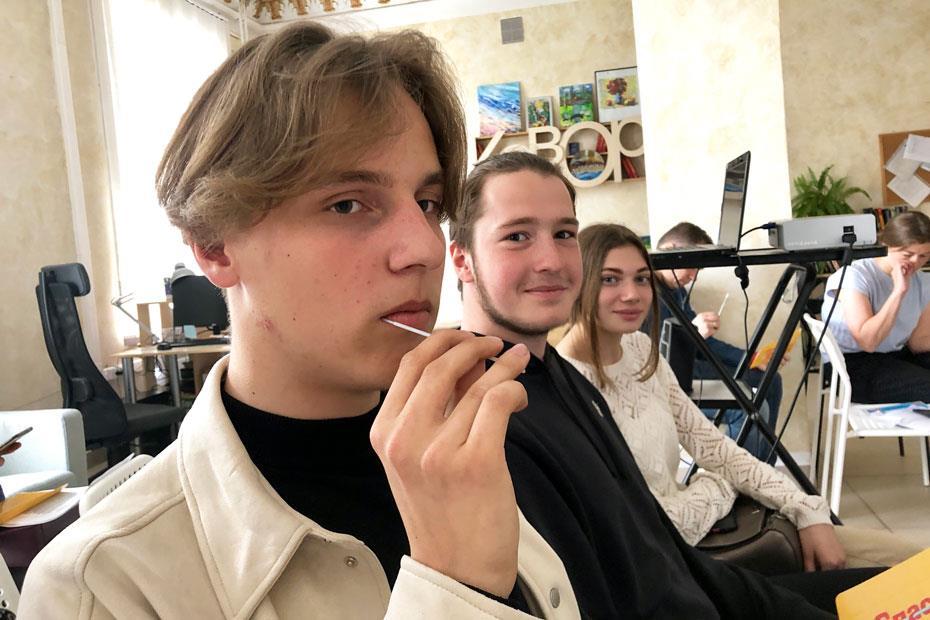 На акции в коворкинг-центре Государственной научной библиотеки Кузбасса имени В.Д. Федорова