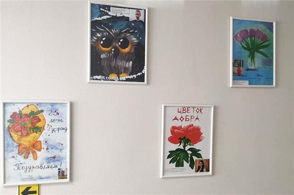 ВНаучно-клиническом центре Казанского федерального университета идет выставка детских рисунков к25‑летию Русфонда