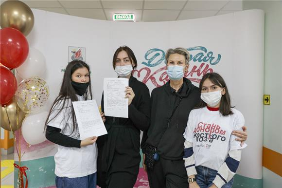 ВКазани на«Осенней донорской акции» 13человек сдали образец буккального эпителия для вступления вНациональный РДКМ