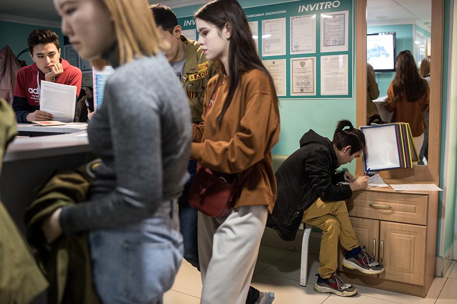 Студенты из Элисты сразу после лекции отправились сдавать кровь в ближайший офис «Инвитро»
