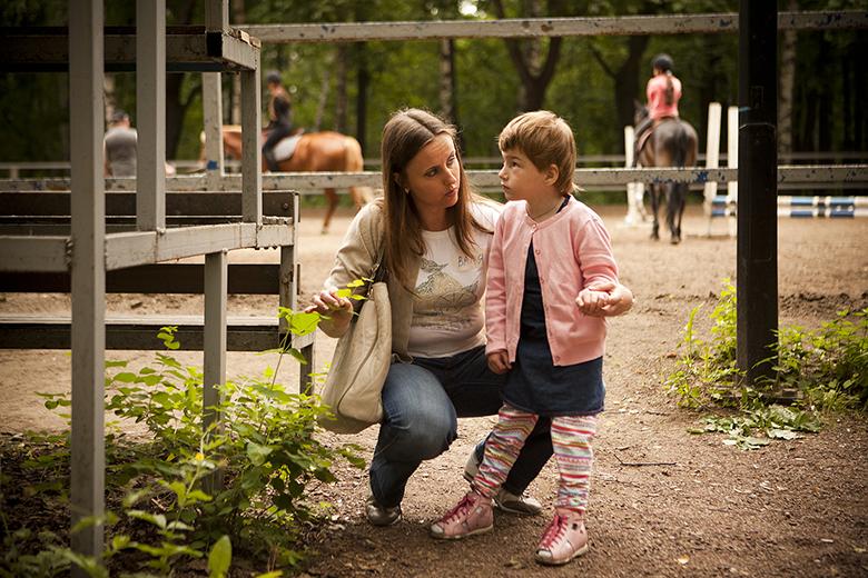 11. Наташа на прогулке в Нескучном саду