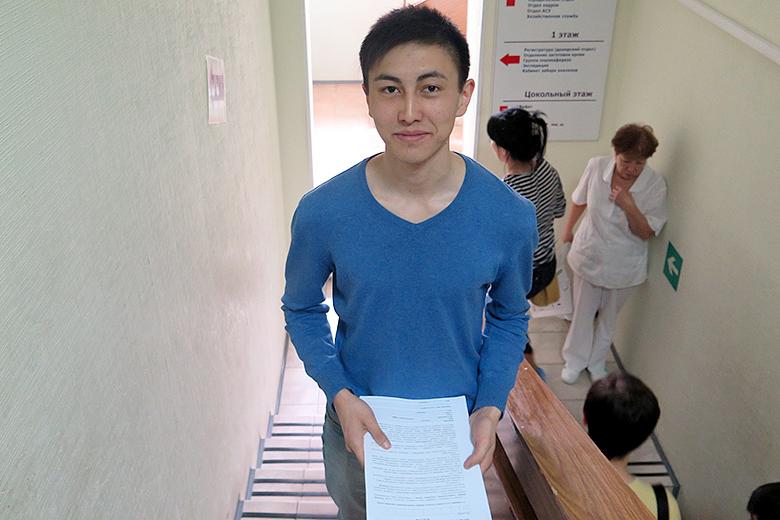 Один из потенциальных доноров – волонтер Динислам Шамбилов, специалист сургутского Центра молодежных инициатив