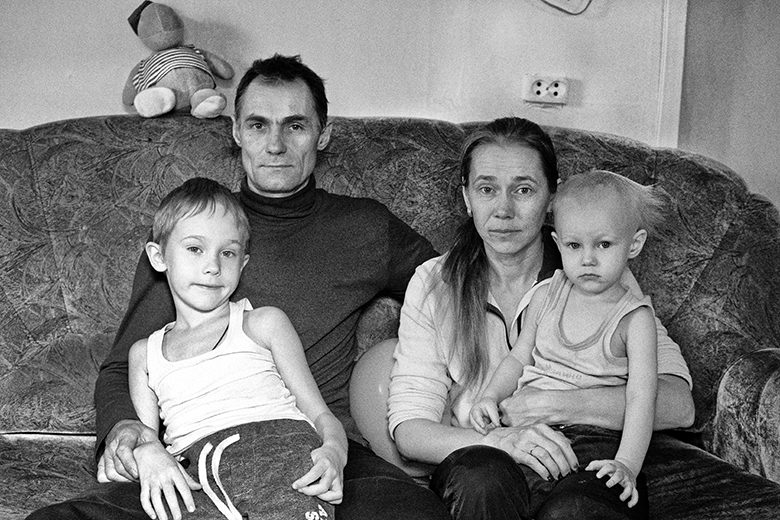 Вова, Дмитрий, Вера и Ваня Перевощиковы