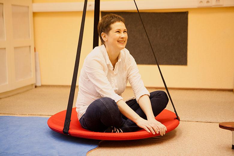 1. Физический терапевт Екатерина Клочкова готовится к семинару